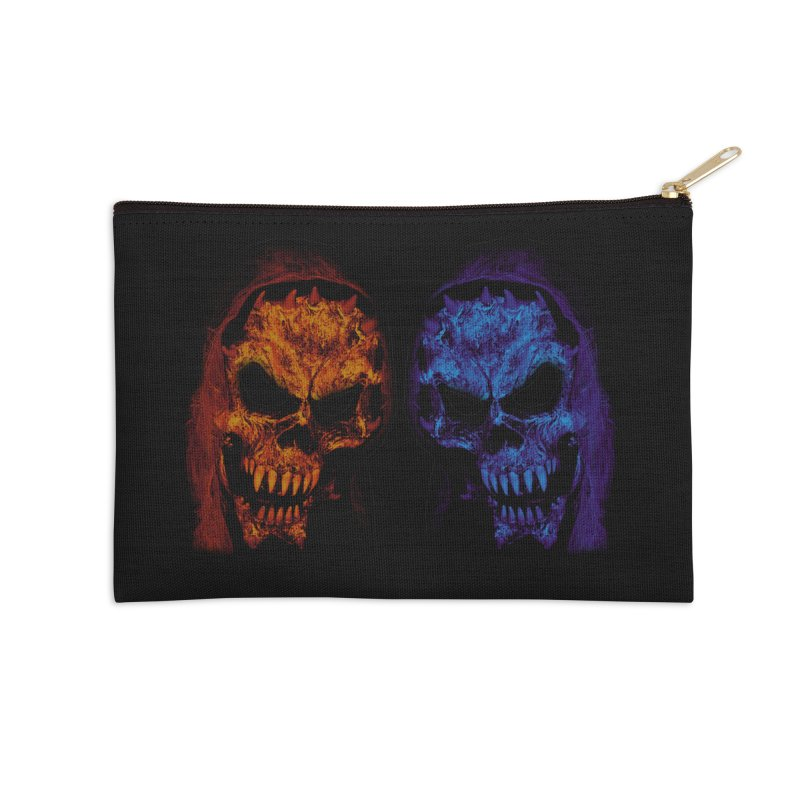 Fire and Ice Accessories Zip Pouch by nickaker's Artist Shop