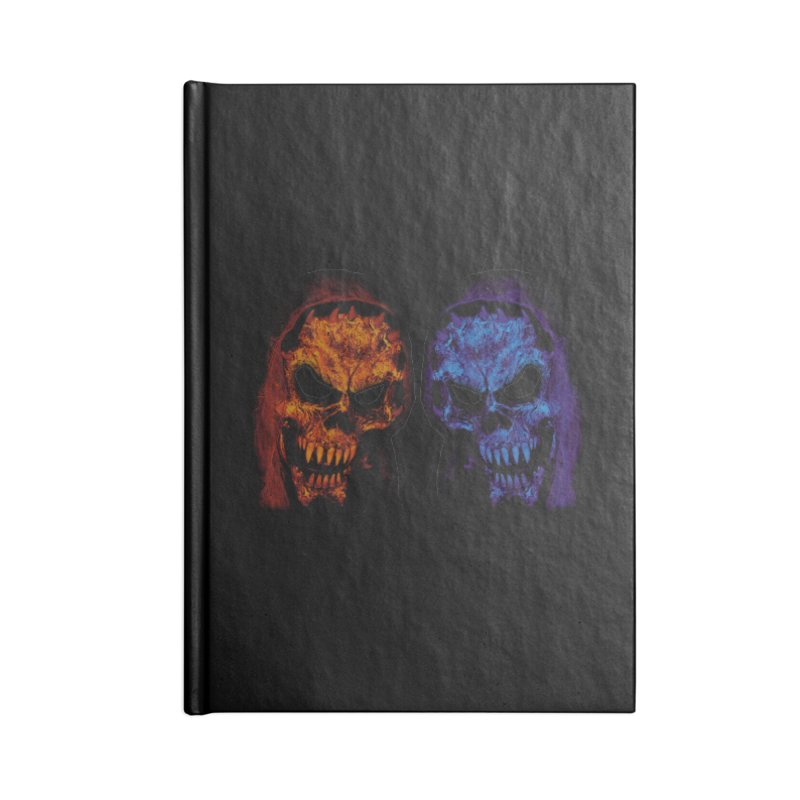 Fire and Ice Accessories Notebook by nickaker's Artist Shop