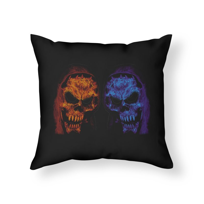 Fire and Ice Home Throw Pillow by nickaker's Artist Shop