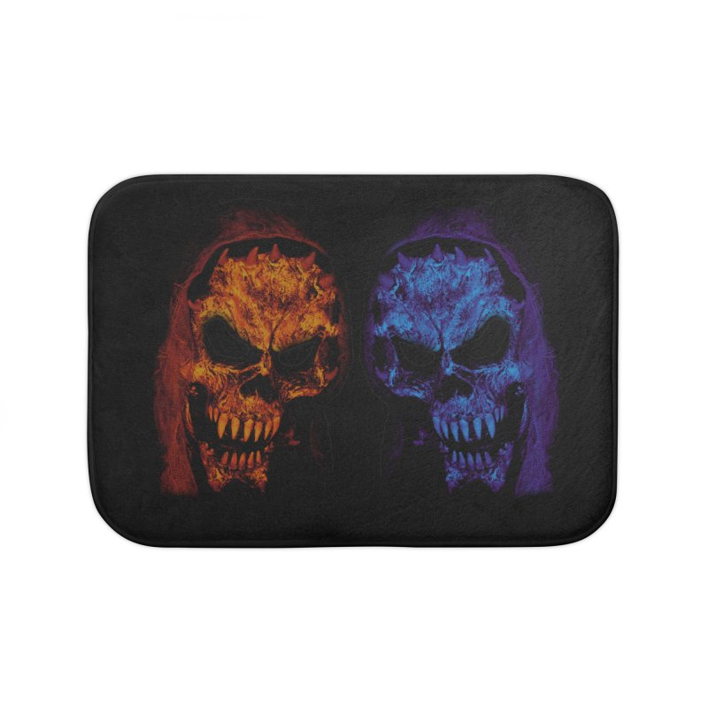 Fire and Ice Home Bath Mat by nickaker's Artist Shop