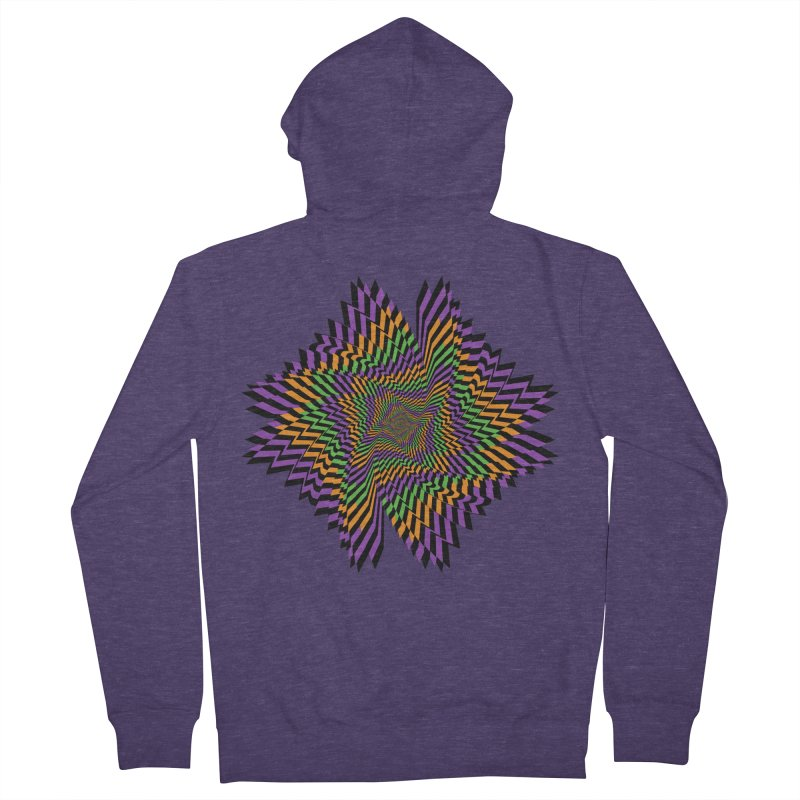 Hallow Spin Men's French Terry Zip-Up Hoody by nickaker's Artist Shop