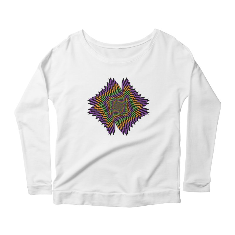 Hallow Spin Women's Longsleeve Scoopneck  by nickaker's Artist Shop