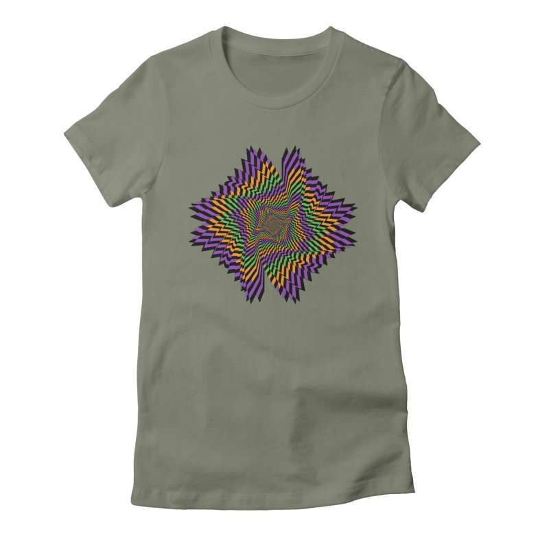 Hallow Spin Women's Fitted T-Shirt by nickaker's Artist Shop
