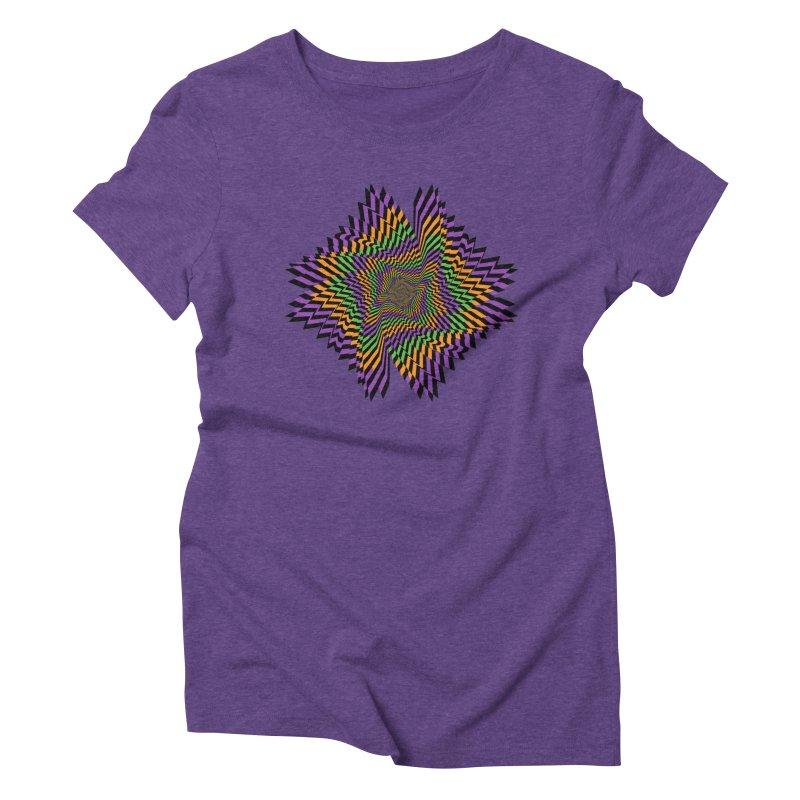 Hallow Spin Women's Triblend T-Shirt by nickaker's Artist Shop