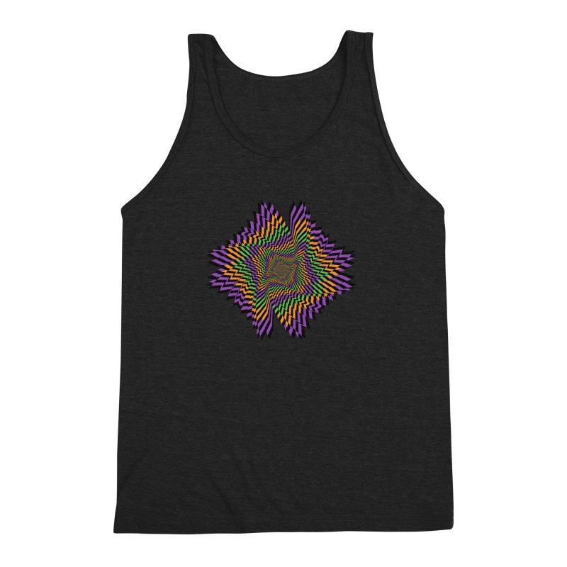 Hallow Spin Men's Triblend Tank by nickaker's Artist Shop