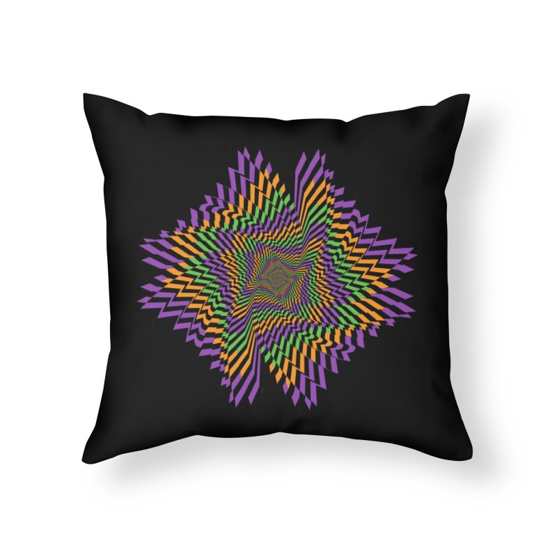 Hallow Spin Home Throw Pillow by nickaker's Artist Shop