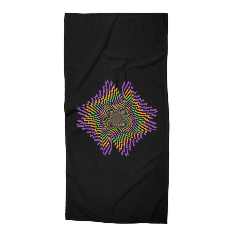 Hallow Spin Accessories Beach Towel by nickaker's Artist Shop