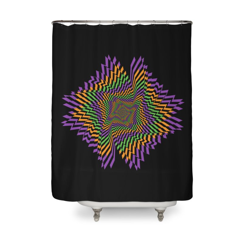 Hallow Spin Home Shower Curtain by nickaker's Artist Shop