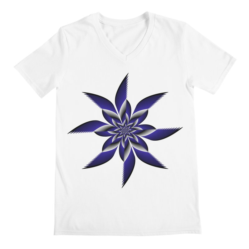 Ninja Star Pincher Men's Regular V-Neck by nickaker's Artist Shop