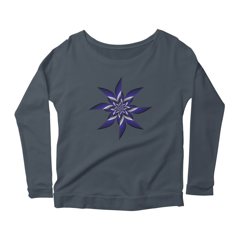 Ninja Star Pincher Women's Longsleeve Scoopneck  by nickaker's Artist Shop