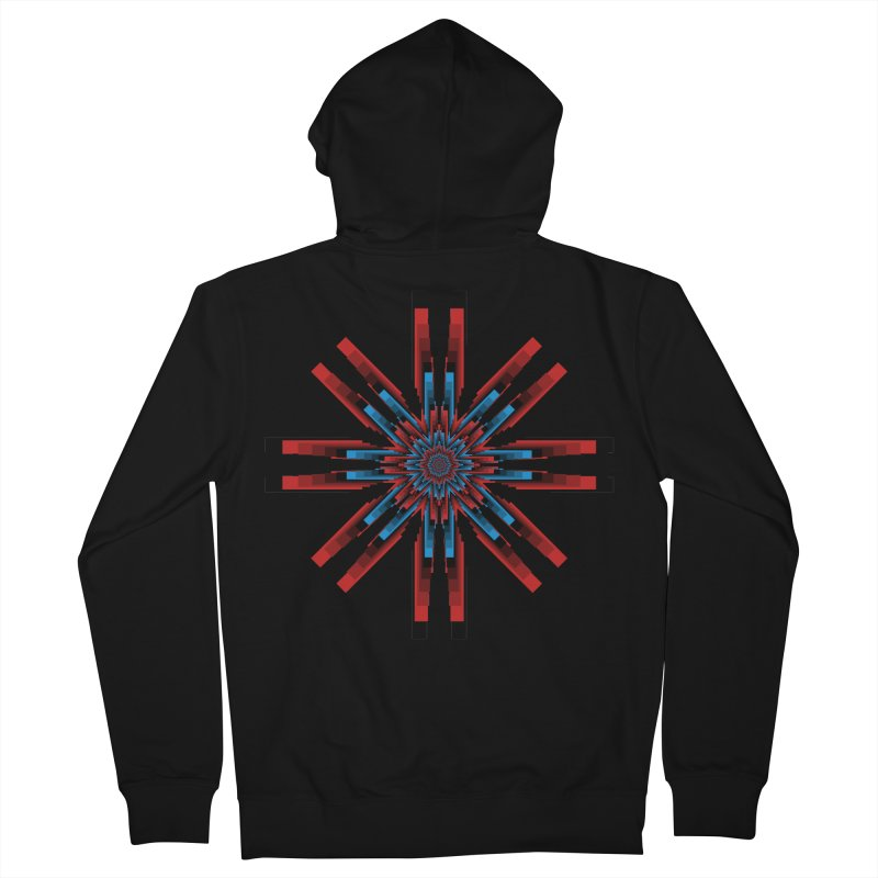 Gears - RvB Men's French Terry Zip-Up Hoody by nickaker's Artist Shop