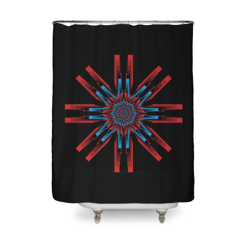 Gears - RvB Home Shower Curtain by nickaker's Artist Shop