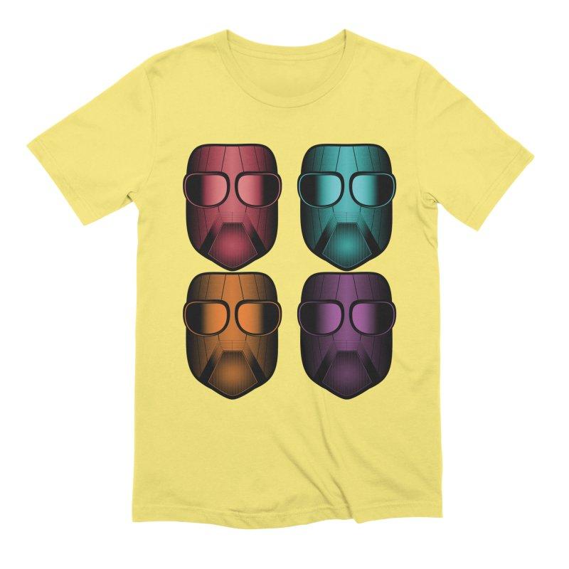 4 Masks Zwei Men's Extra Soft T-Shirt by nickaker's Artist Shop