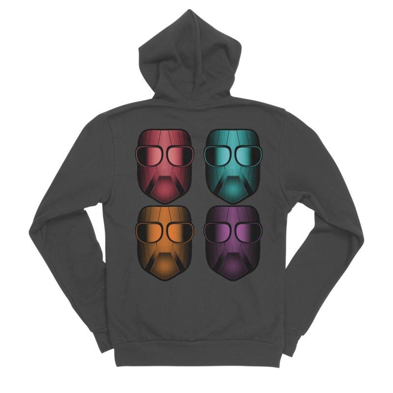 4 Masks Zwei Men's Sponge Fleece Zip-Up Hoody by nickaker's Artist Shop