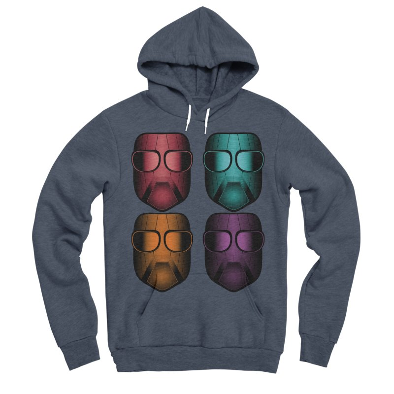 4 Masks Zwei Women's Sponge Fleece Pullover Hoody by nickaker's Artist Shop