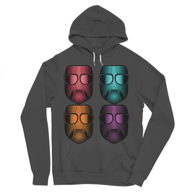4 Masks Zwei Women's Sponge Fleece Pullover Hoody by nickaker's Artist Shop