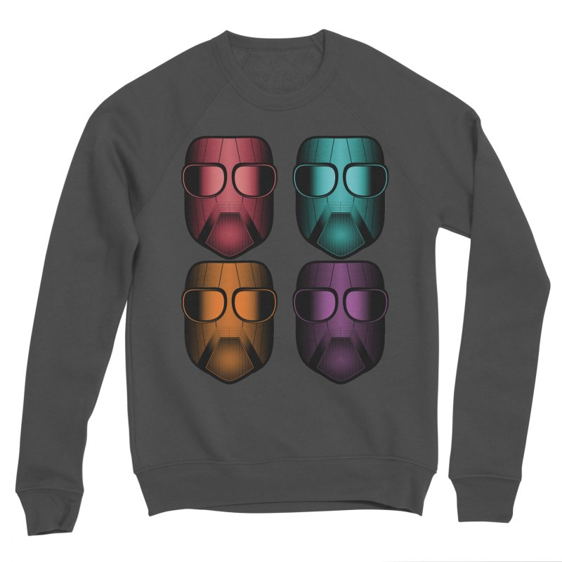 4 Masks Zwei Women's Sponge Fleece Sweatshirt by nickaker's Artist Shop