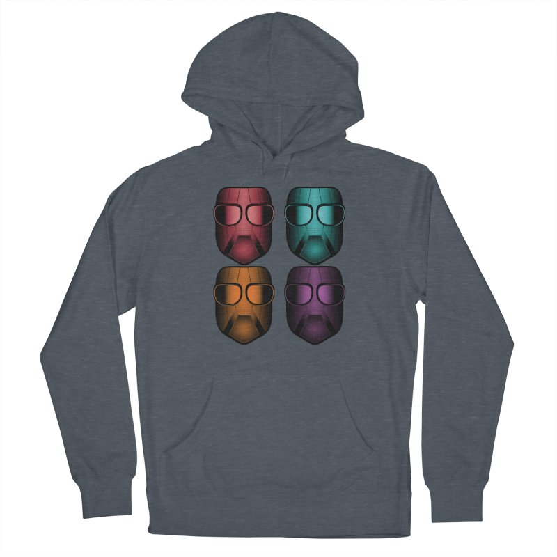 4 Masks Zwei Men's French Terry Pullover Hoody by nickaker's Artist Shop