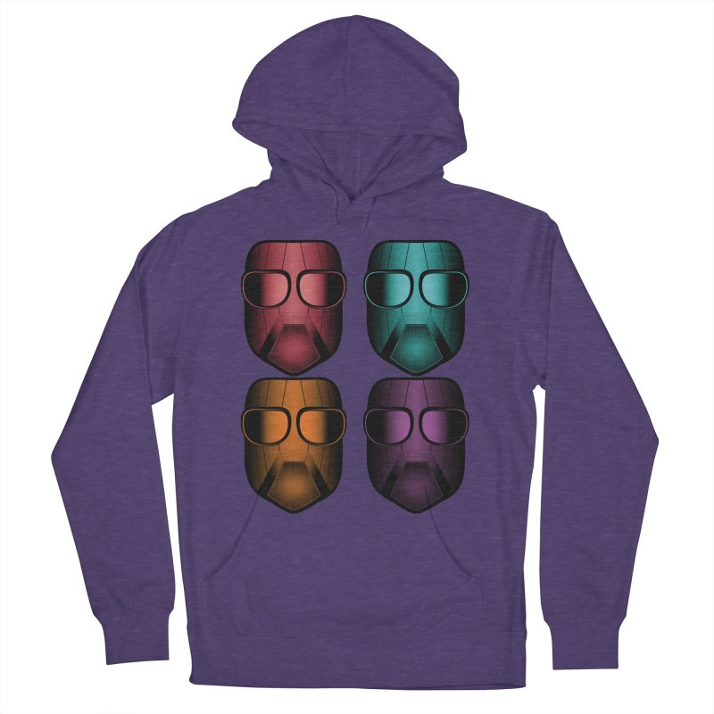 4 Masks Zwei Women's French Terry Pullover Hoody by nickaker's Artist Shop