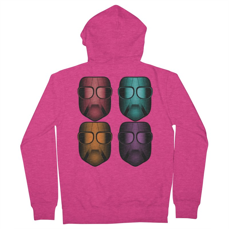 4 Masks Zwei Women's French Terry Zip-Up Hoody by nickaker's Artist Shop