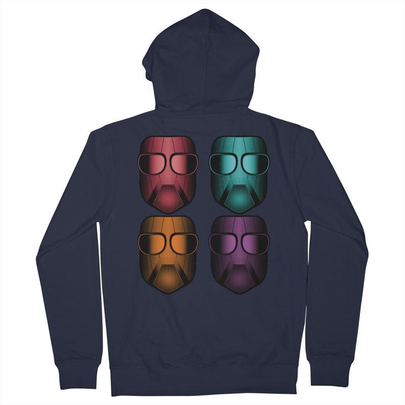 4 Masks Zwei Men's French Terry Zip-Up Hoody by nickaker's Artist Shop