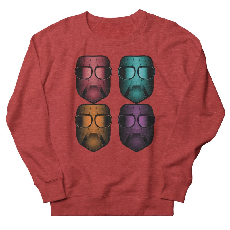 4 Masks Zwei Women's French Terry Sweatshirt by nickaker's Artist Shop