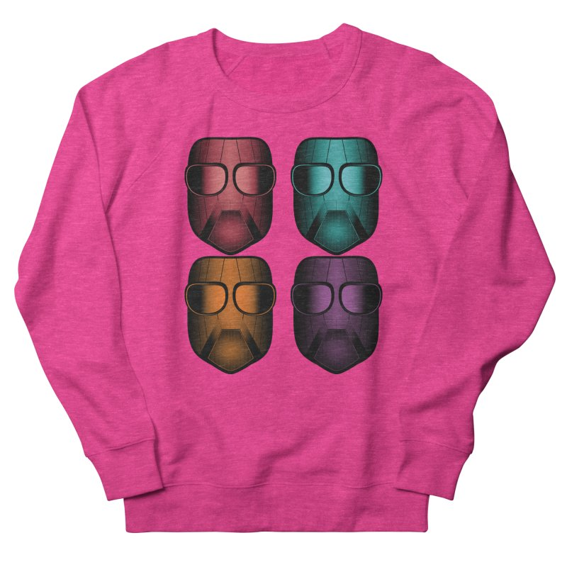 4 Masks Zwei Men's French Terry Sweatshirt by nickaker's Artist Shop