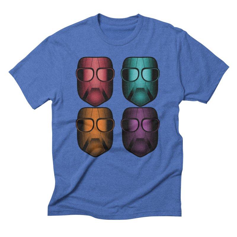 4 Masks Zwei Men's Triblend T-Shirt by nickaker's Artist Shop