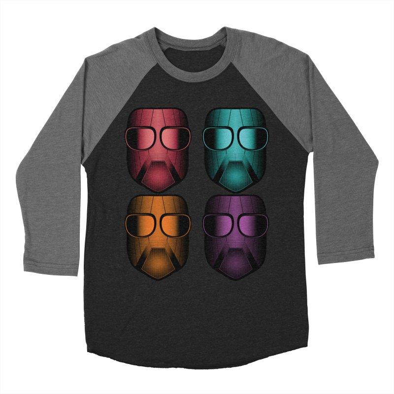 4 Masks Zwei Men's Baseball Triblend Longsleeve T-Shirt by nickaker's Artist Shop
