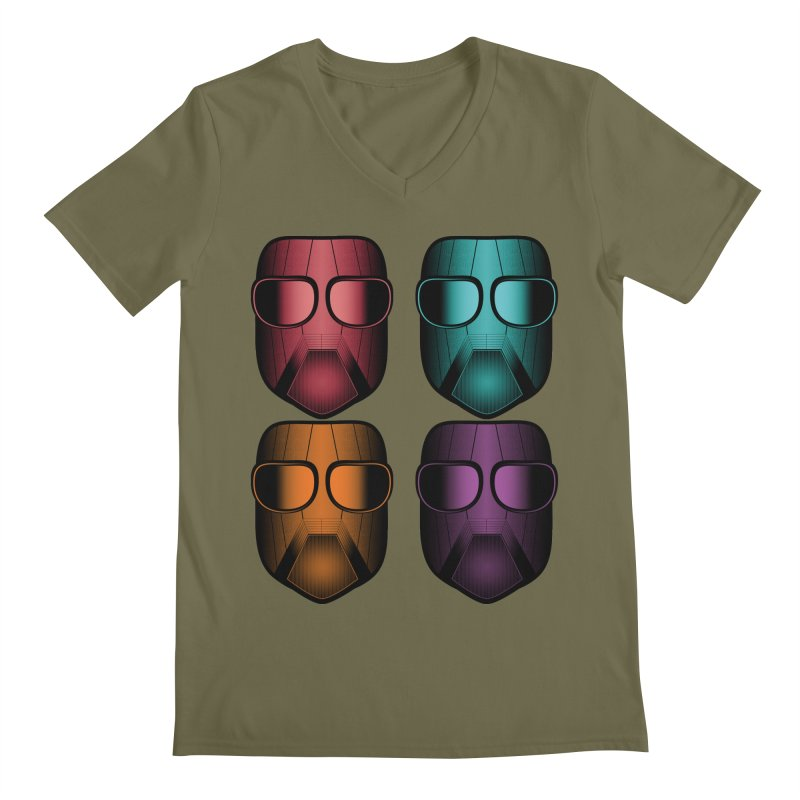 4 Masks Zwei Men's Regular V-Neck by nickaker's Artist Shop