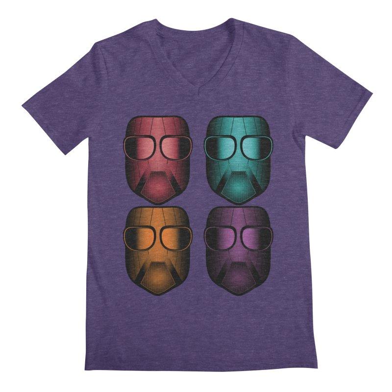 4 Masks Zwei Men's Regular V-Neck by nickaker's Artist Shop