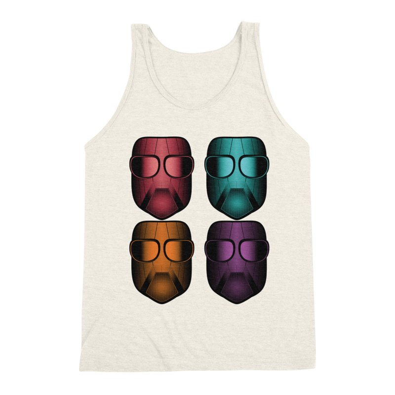 4 Masks Zwei Men's Triblend Tank by nickaker's Artist Shop