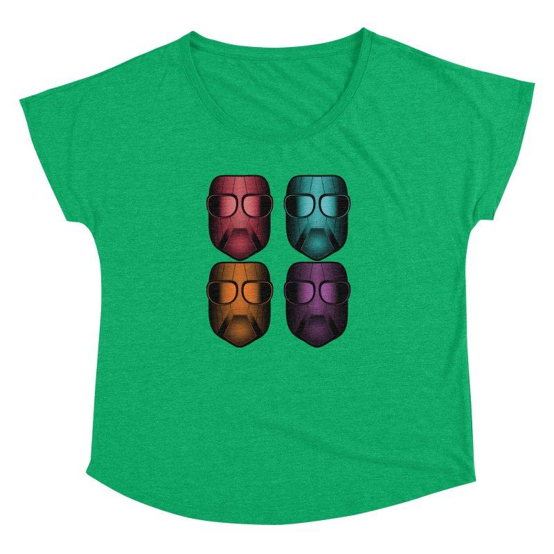 4 Masks Zwei Women's Dolman Scoop Neck by nickaker's Artist Shop
