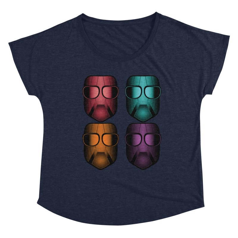 4 Masks Zwei Women's Dolman Scoop Neck by nickaker's Artist Shop