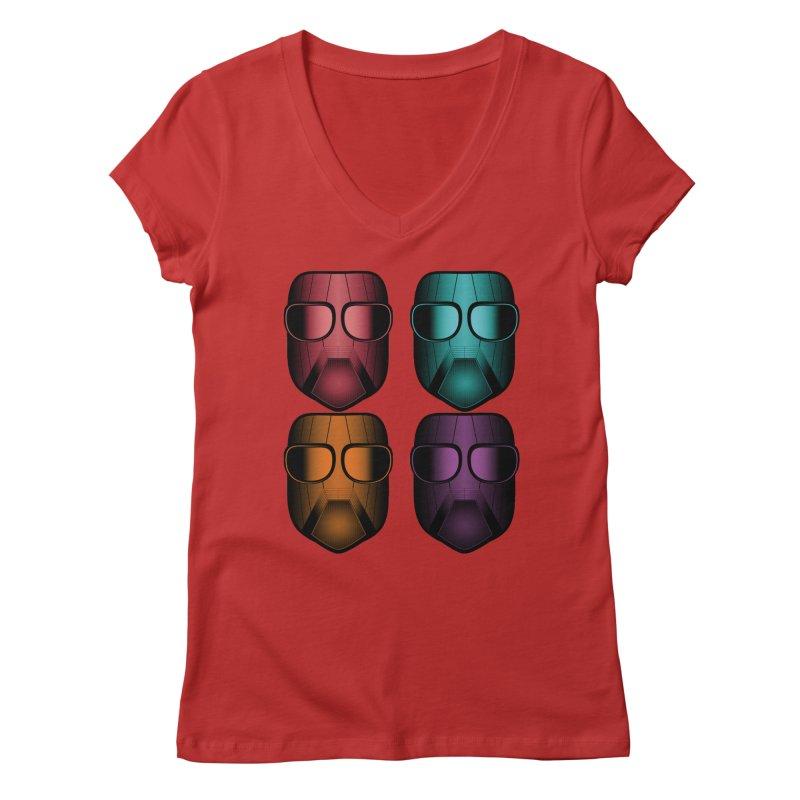 4 Masks Zwei Women's Regular V-Neck by nickaker's Artist Shop