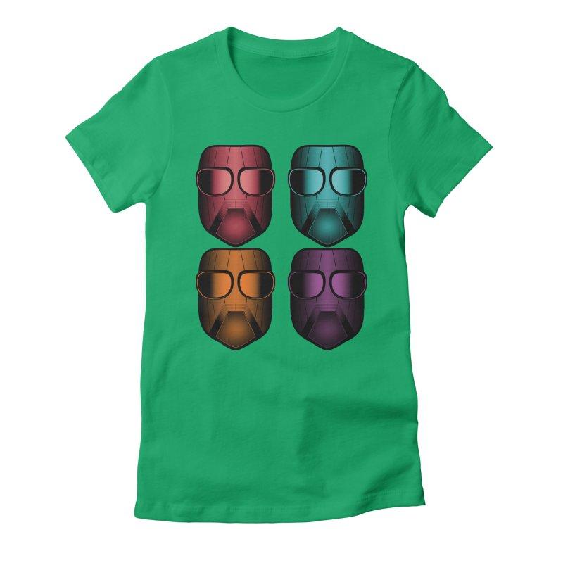 4 Masks Zwei Women's Fitted T-Shirt by nickaker's Artist Shop