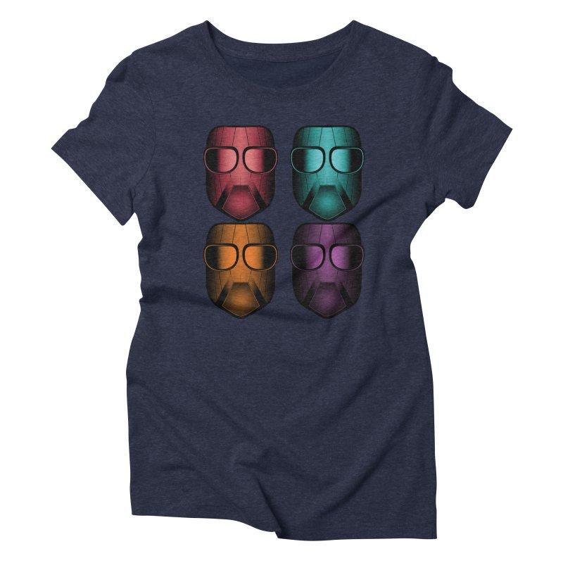 4 Masks Zwei Women's Triblend T-Shirt by nickaker's Artist Shop