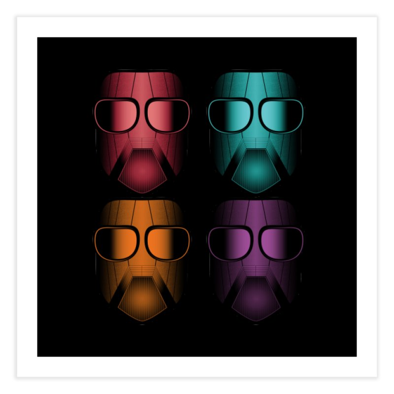 4 Masks Zwei Home Fine Art Print by nickaker's Artist Shop