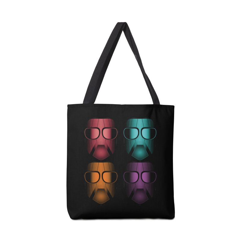 4 Masks Zwei Accessories Tote Bag Bag by nickaker's Artist Shop