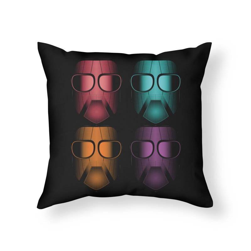 4 Masks Zwei Home Throw Pillow by nickaker's Artist Shop