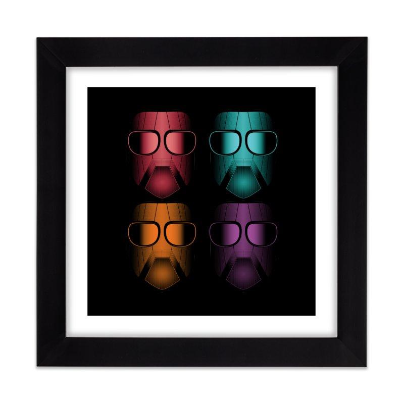 4 Masks Zwei Home Framed Fine Art Print by nickaker's Artist Shop