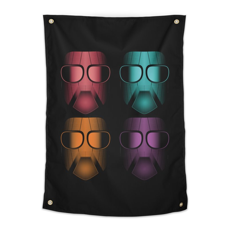 4 Masks Zwei Home Tapestry by nickaker's Artist Shop