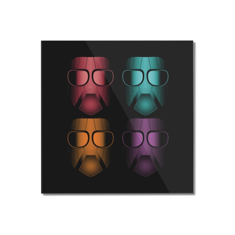 4 Masks Zwei Home Mounted Acrylic Print by nickaker's Artist Shop