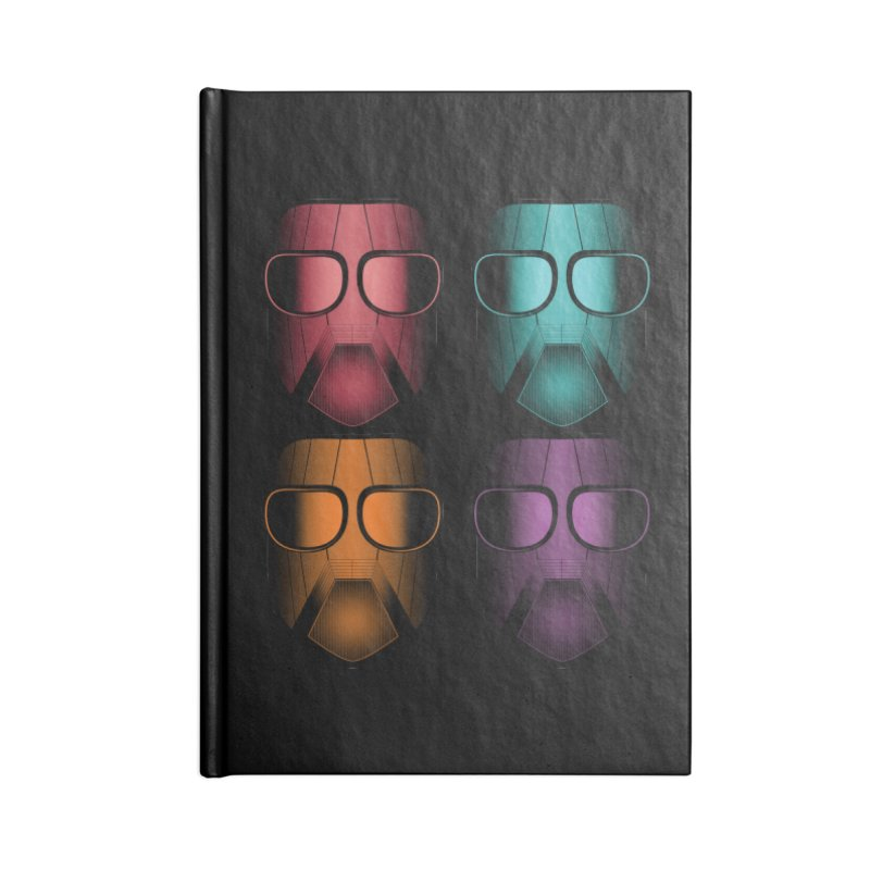 4 Masks Zwei Accessories Lined Journal Notebook by nickaker's Artist Shop