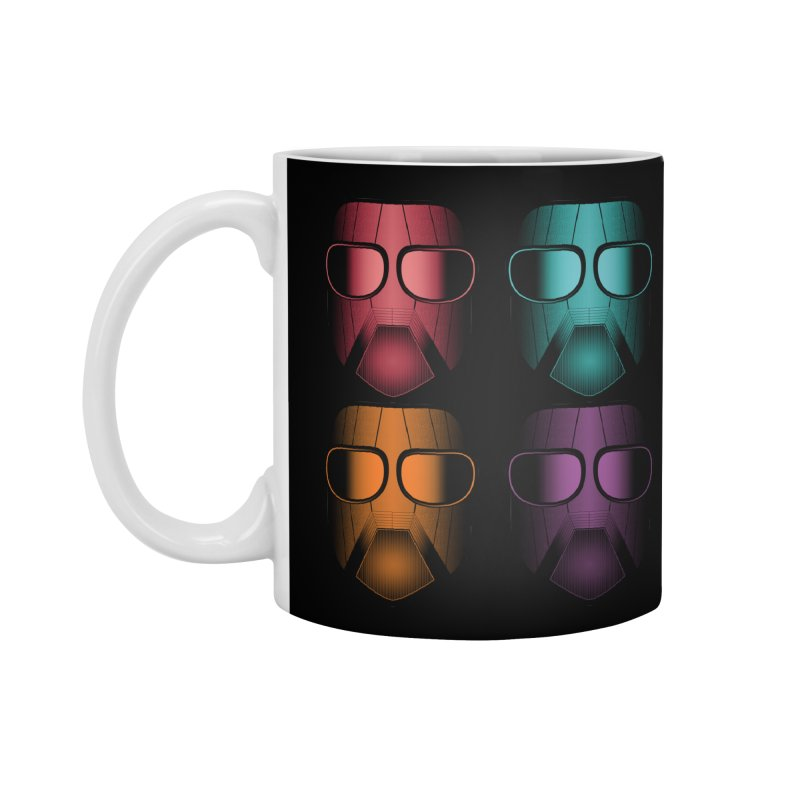 4 Masks Zwei Accessories Standard Mug by nickaker's Artist Shop