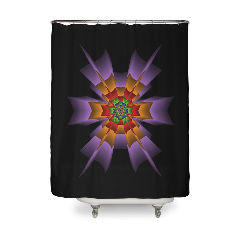 145 Home Shower Curtain by nickaker's Artist Shop