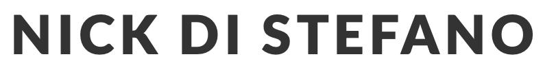 Nick Di Stefano's Shop Logo