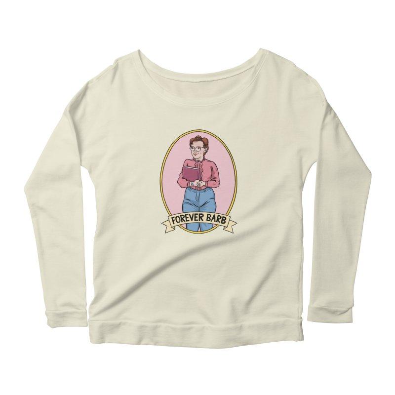 "Stranger Things ""Forever Barb"" Women's Longsleeve Scoopneck  by Nick Lacke's Shirt Shop"