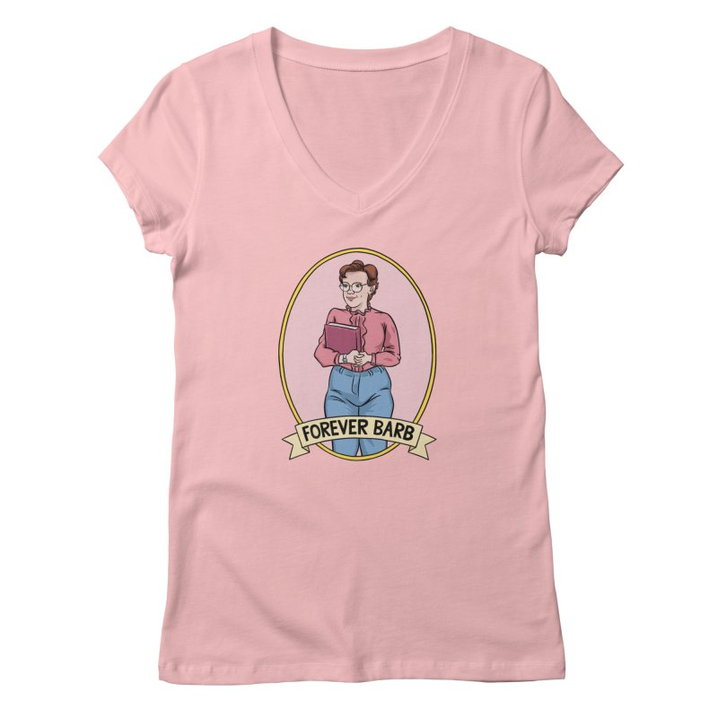 "Stranger Things ""Forever Barb"" Women's V-Neck by Nick Lacke's Shirt Shop"