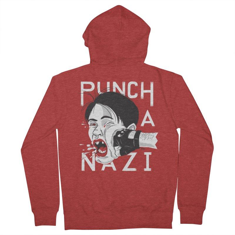 Punch A Nazi Women's Zip-Up Hoody by Nick Lacke's Shirt Shop